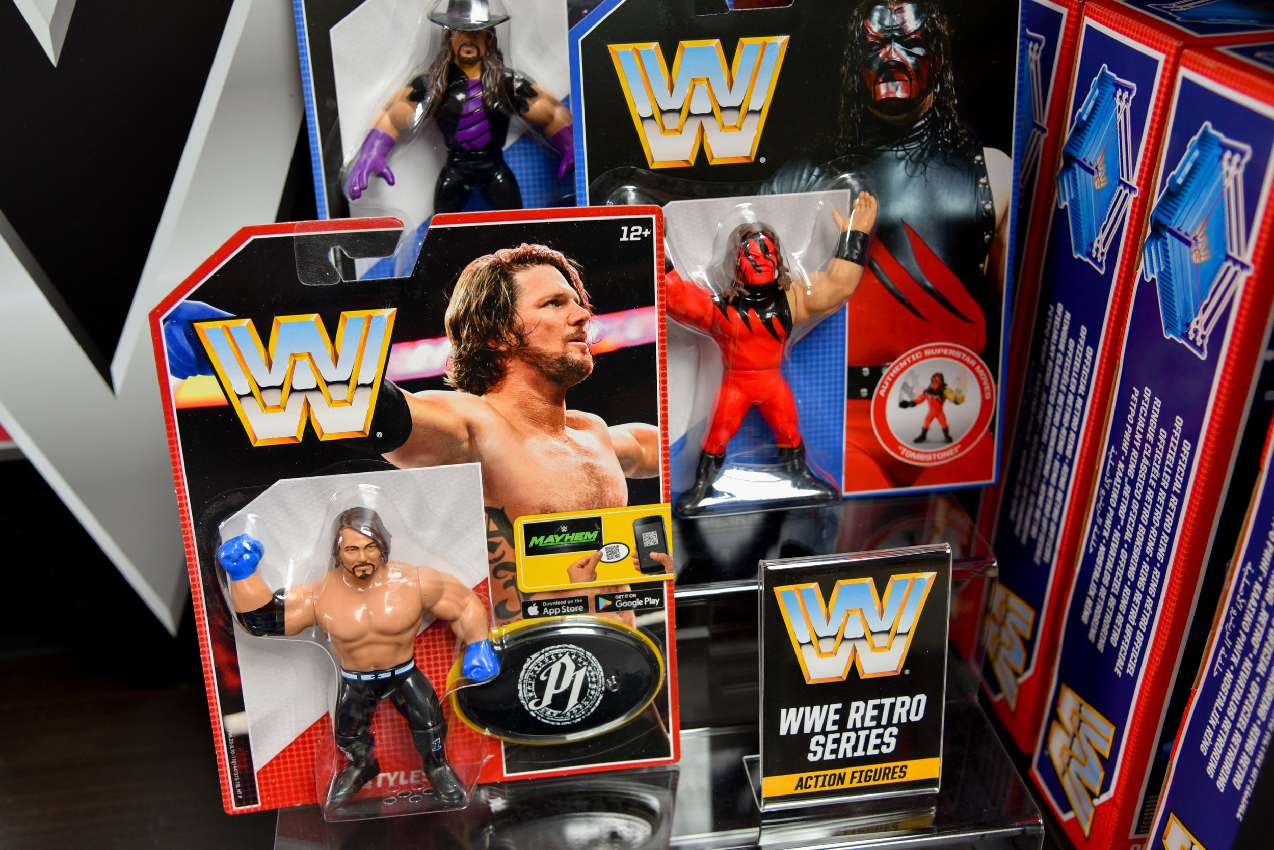 WWE Retro Figure AJ Styles, Kane and Undertaker