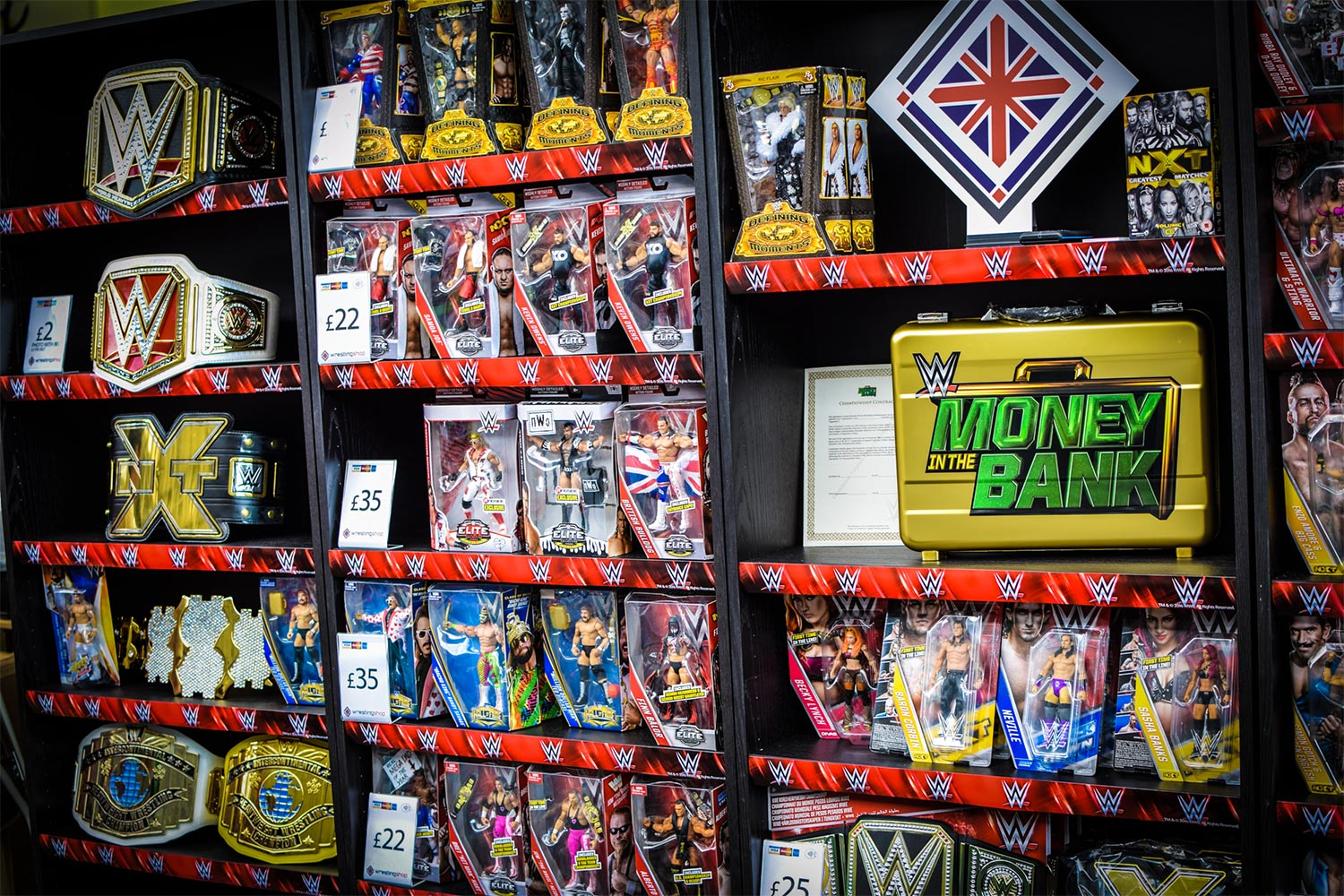 Wrestling Shop display