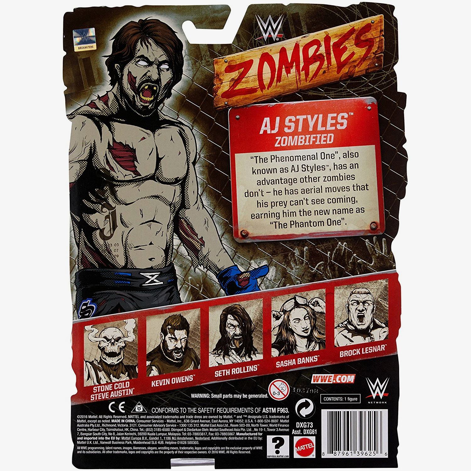 Aj Styles Wwe Zombies Series 2 Wrestling Action Figure