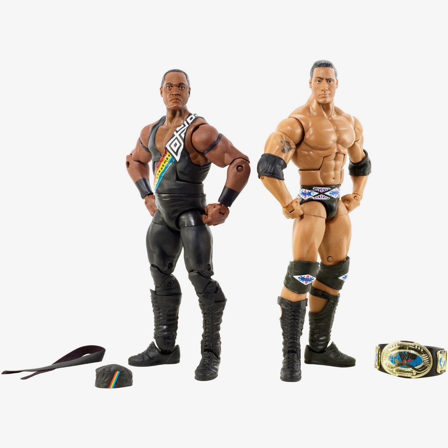 faarooq the rock wwe elite collection series 2 pack. Black Bedroom Furniture Sets. Home Design Ideas
