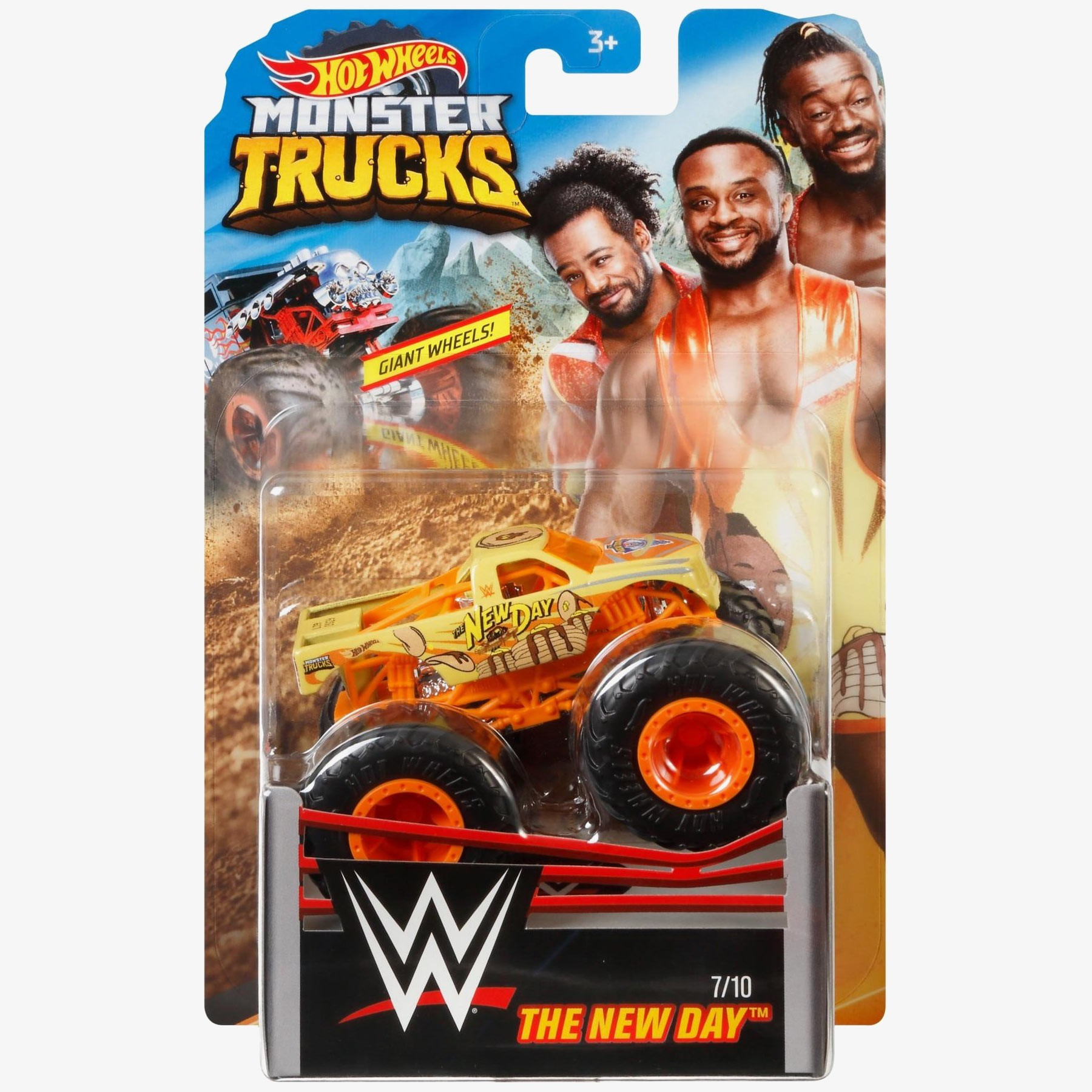 The New Day Hot Wheels Monster Trucks Wwe Die Cast Collection