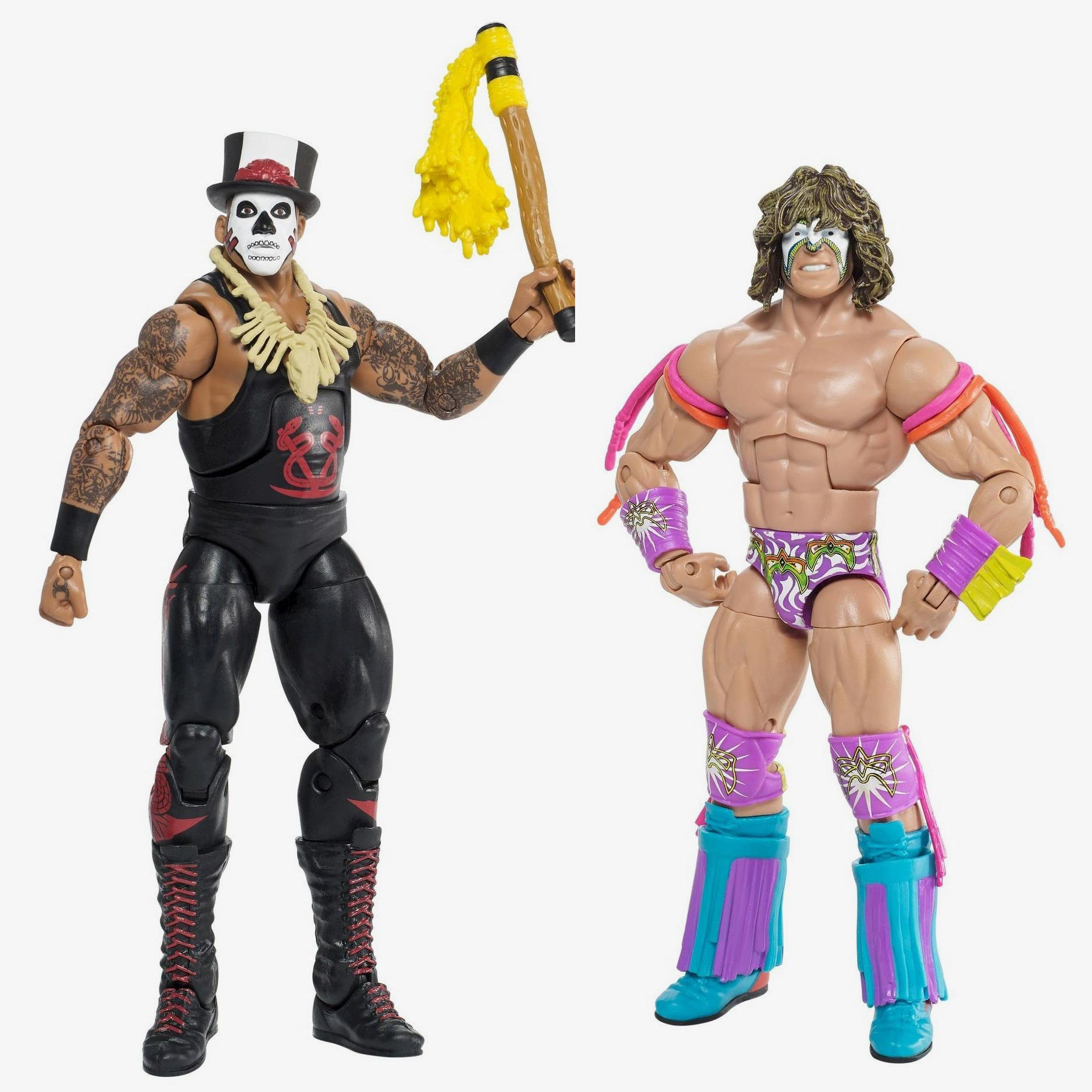 papa shango & ultimate warrior wwe hall of fame (2-pack)