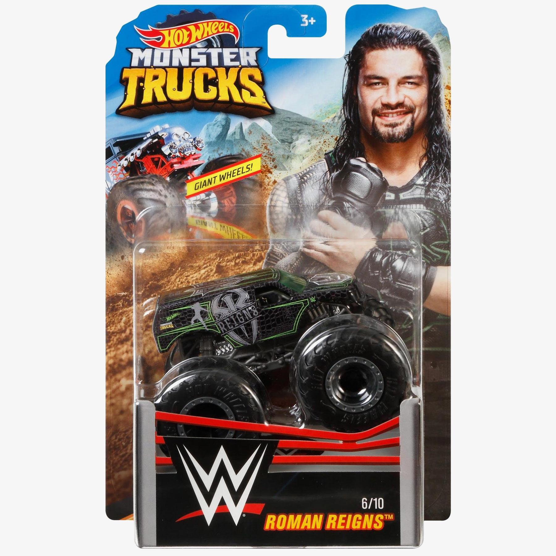 Roman Reigns Hot Wheels Monster Trucks Wwe Die Cast Collection