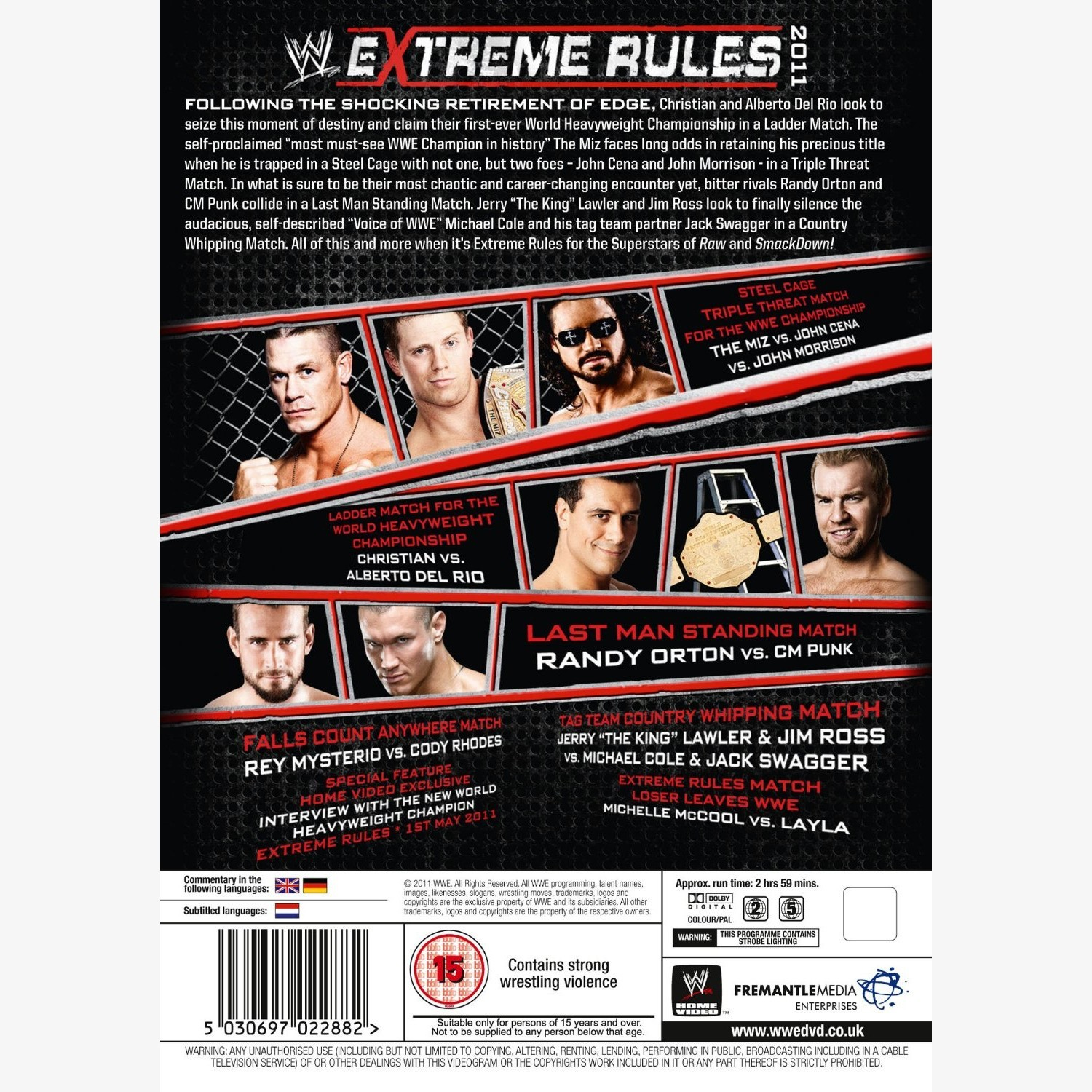 Image result for extreme rules 2011 poster