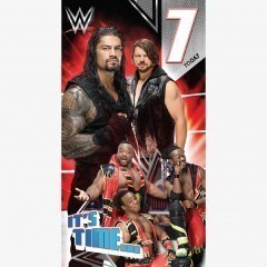 WWE Age 7 Birthday Card