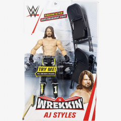 AJ Styles WWE Wrekkin' Figures Series (With Two Chairs)