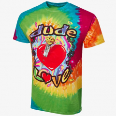 Dude Love Tie Dye - Men's WWE Retro T-Shirt