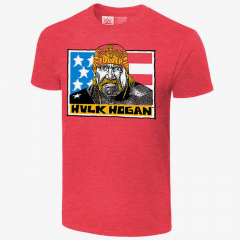 Hulk Hogan -  Real American - Men's WWE Retro T-Shirt