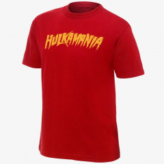 Hulk Hogan - Hulkamania - Men's WWE Retro T-Shirt (Red)