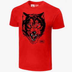 nWo Wolfpac Wolf - Mens Retro WWE T-Shirt (Red)