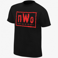 nWo Wolfpac - Men's WWE Retro T-Shirt (Black & Red)