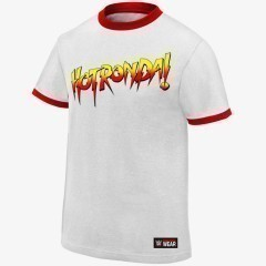 "Ronda Rousey ""Hot Ronda"" Men's WWE Authentic T-Shirt (White)"