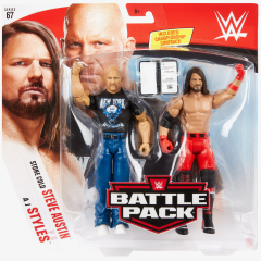 Stone Cold Steve Austin & AJ Styles - WWE Battle Pack Series #67