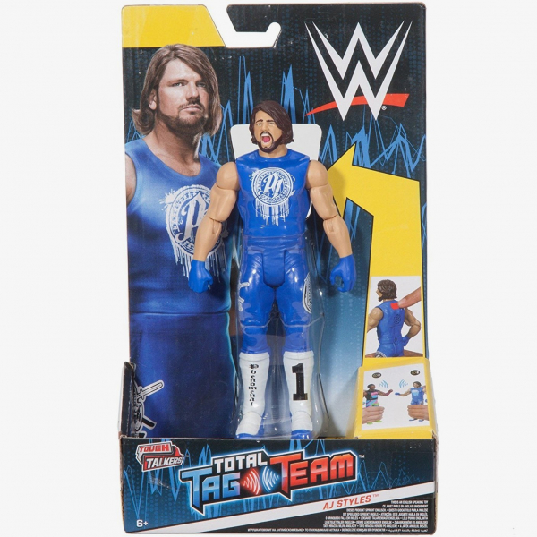 AJ Styles WWE Tough Talkers Total Tag Team