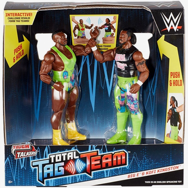 Big E & Kofi Kingston WWE Tough Talkers Total Tag Team