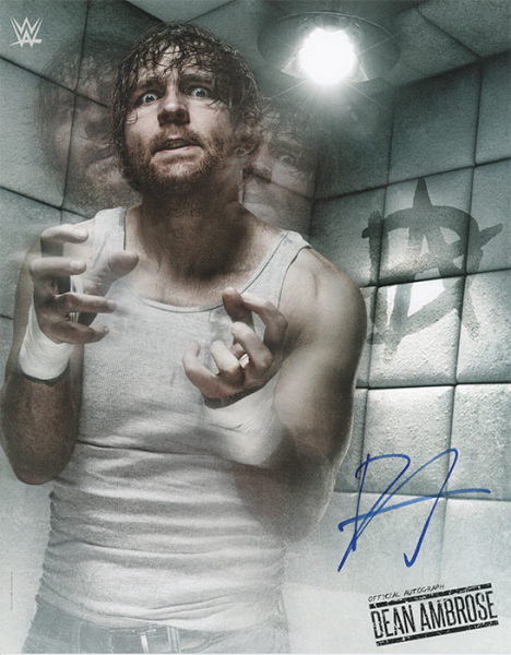 Dean Ambrose Hand Signed Official WWE Photo
