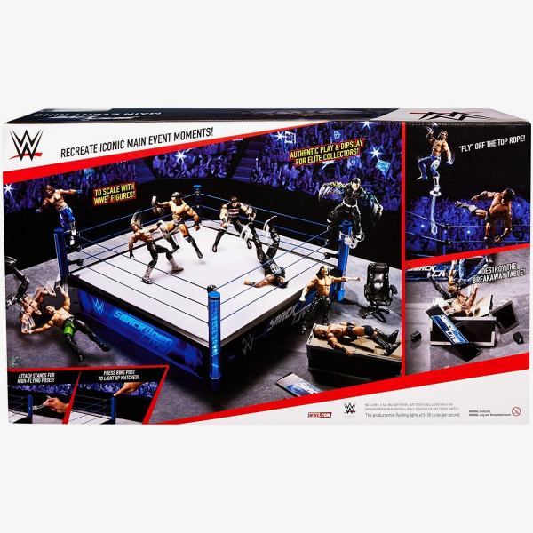 WWE SmackDown Main Event Real Scale Ring Playset (Includes Jinder Mahal)
