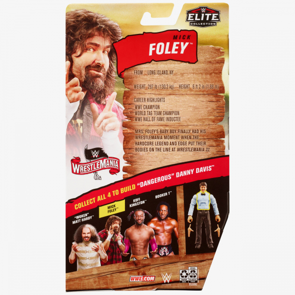 Mick Foley WWE WrestleMania 36 Elite Collection