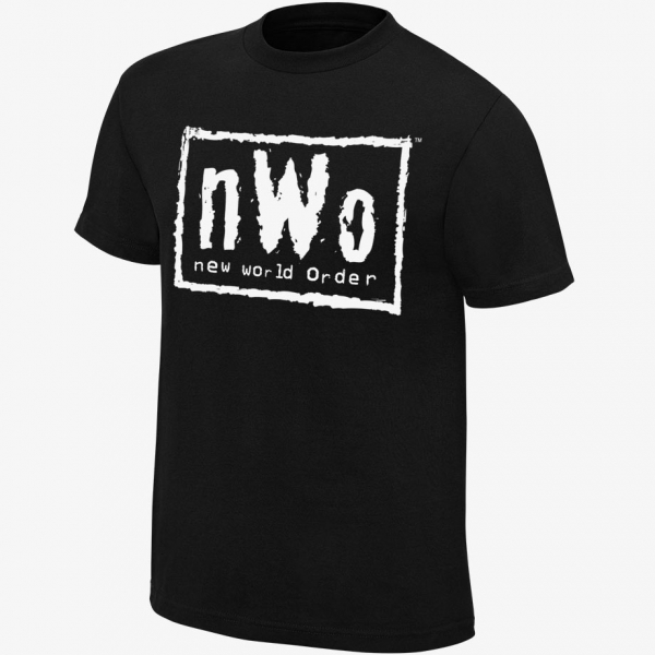 nWo  - New World Order - Men's WWE Retro T-Shirt (Black & White)