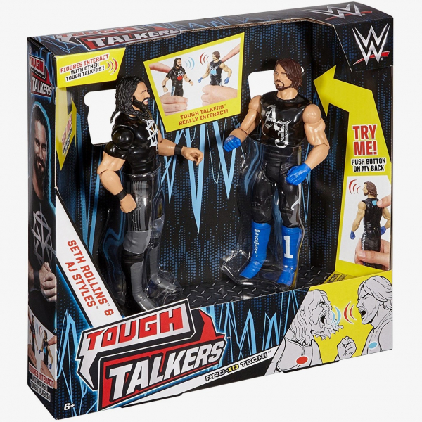 AJ Styles & Seth Rollins WWE Tough Talkers Twin-Pack Series #2