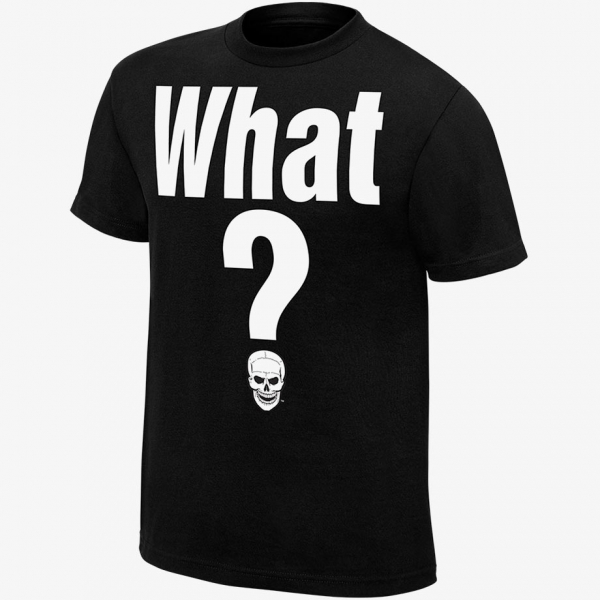 Stone Cold  - What? - Mens WWE Retro T-Shirt