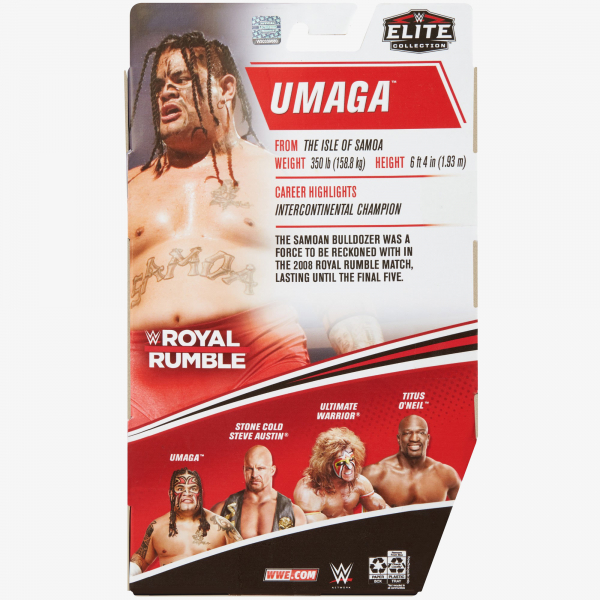 Umaga WWE Royal Rumble 2021 Elite Collection