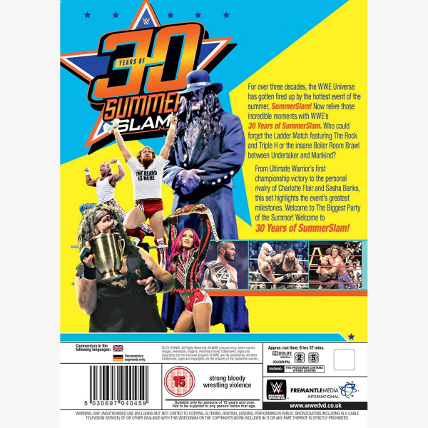 WWE 30 Years of SummerSlam DVD
