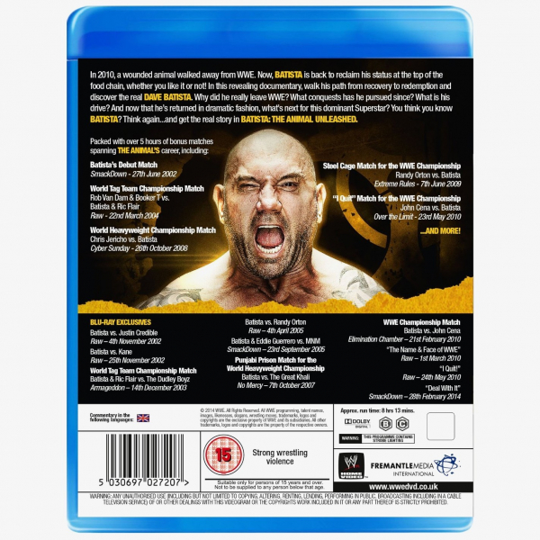 WWE Batista - The Animal Unleashed Blu-ray