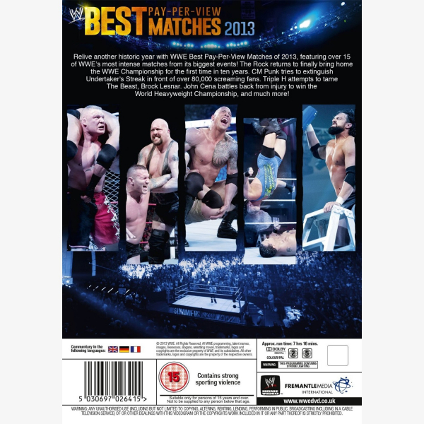 WWE Best Pay Per View Matches 2013 DVD