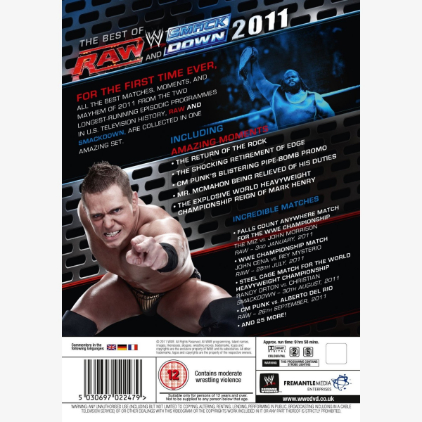 WWE The Best of Raw & Smackdown 2011 DVD