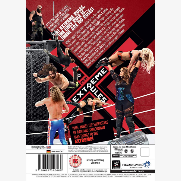 WWE Extreme Rules 2018 DVD
