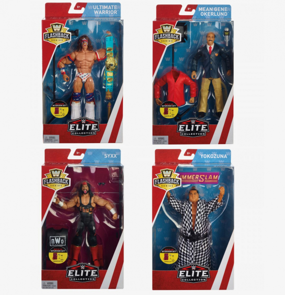WWE Flashback Elite Series #1 (Complete Set of 4)