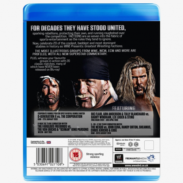 WWE Wrestling's Greatest Factions Blu-ray
