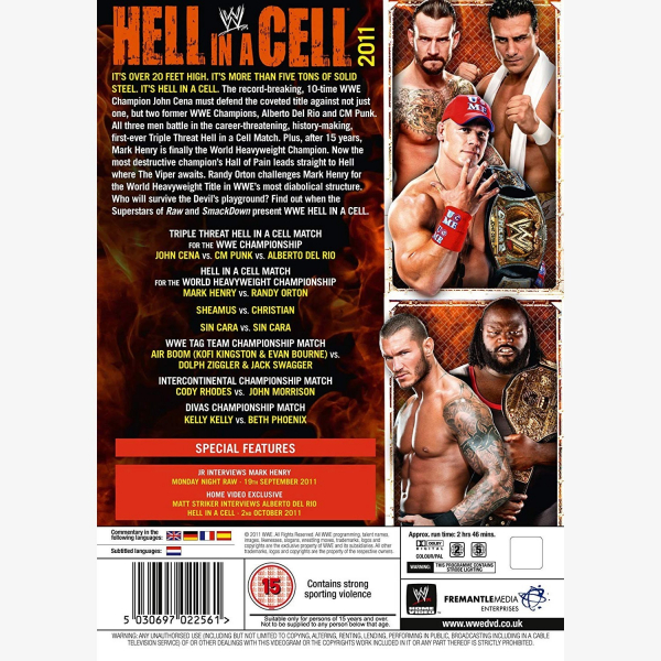 WWE Hell in a Cell 2011 DVD