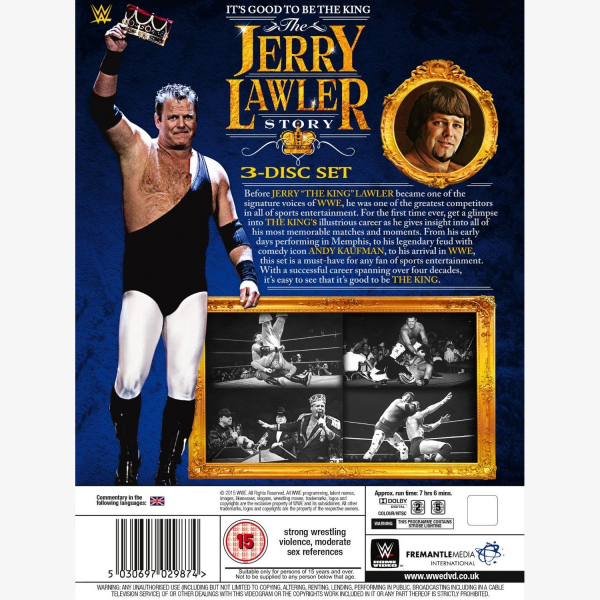 WWE It's Good To Be The King - The Jerry Lawler Story DVD