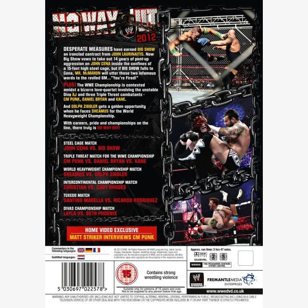 WWE No Way Out 2012 DVD