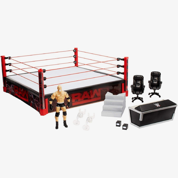 WWE RAW Main Event Real Scale Ring Playset (Includes Goldberg)