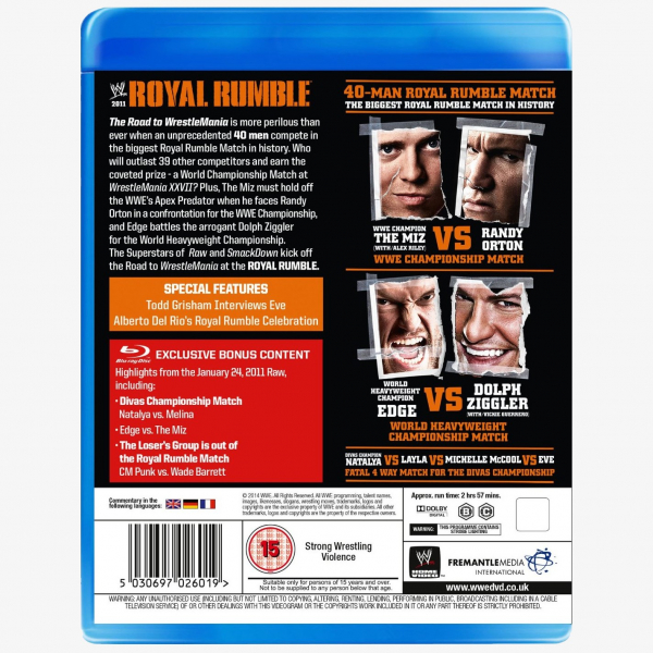 WWE Royal Rumble 2011 Blu-ray