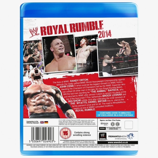 WWE Royal Rumble 2014 Blu-ray