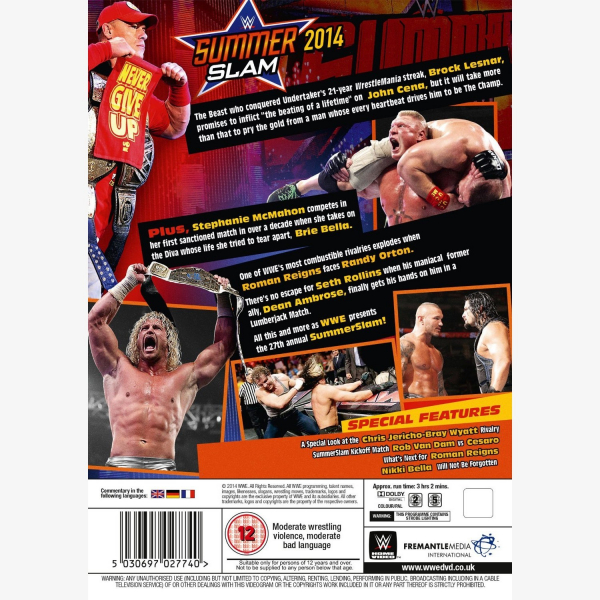 WWE SummerSlam 2014 DVD