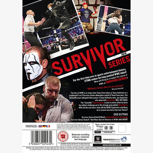 WWE Survivor Series 2014 DVD
