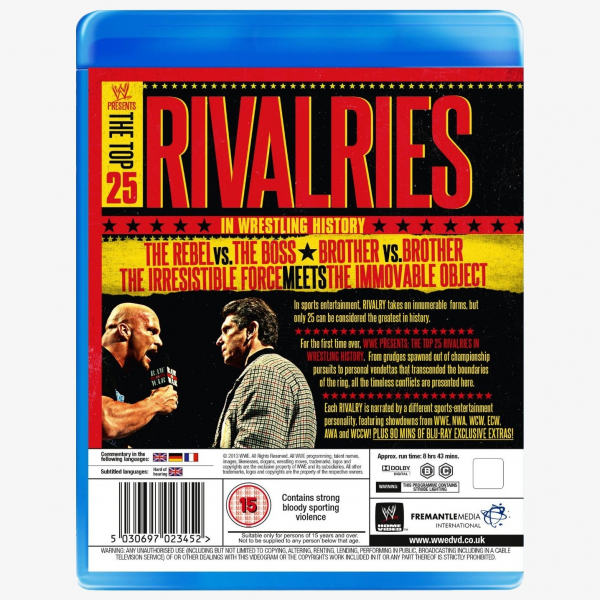 WWE The Top 25 Rivalries In Wrestling History Blu-ray
