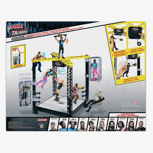 WWE Tough Talkers Championship Takedown Ring playset