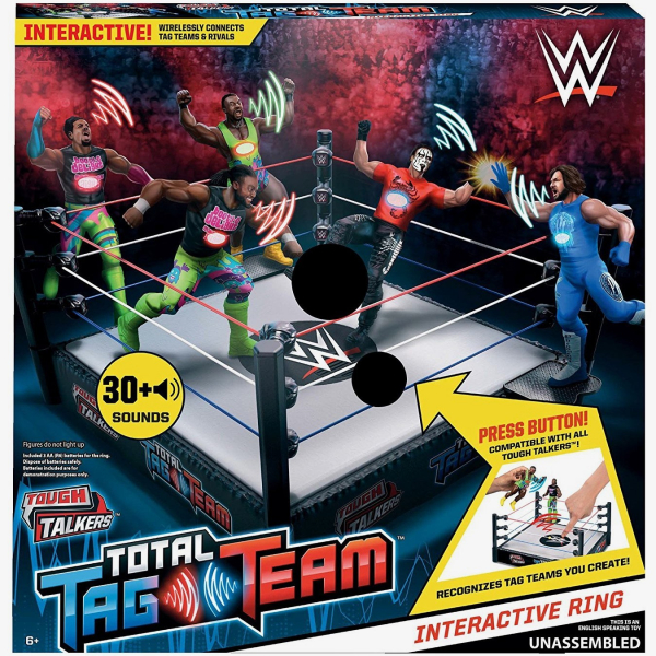 WWE Tough Talkers Total Tag Team Ring Playset
