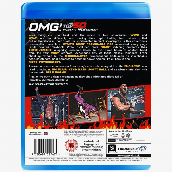 WWE OMG! Volume 2 - The Top 50 Incidents in WCW History Blu-ray