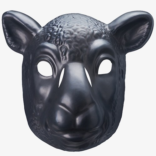 Wyatt Family Black Sheep Wwe Toy Plastic Mask