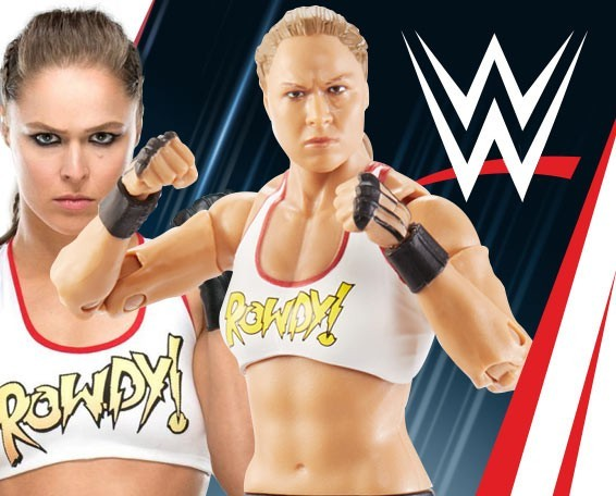 Ultimate Edition, Series 1, Ronda Rousey, Figures, Mattel, WWE