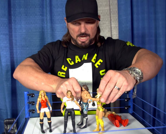 Video: AJ Styles on New WWE Figures