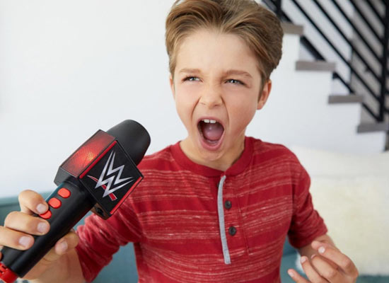 WWE Promo Battle Microphone, Interactive, Toy, Mattel