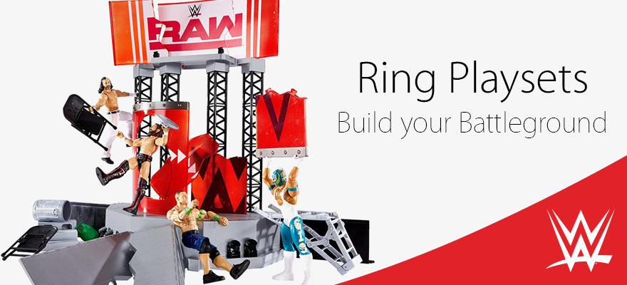 WWE RAW Wrekking Ring play set - Mattel